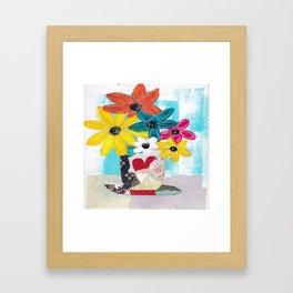 PATCHWORK VASE Framed Art Print