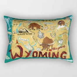 WYOMING map Rectangular Pillow