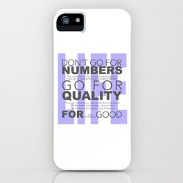 Don't go for #s go for Quality iPhone Case