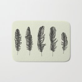 Lucky Five Feathers Bath Mat