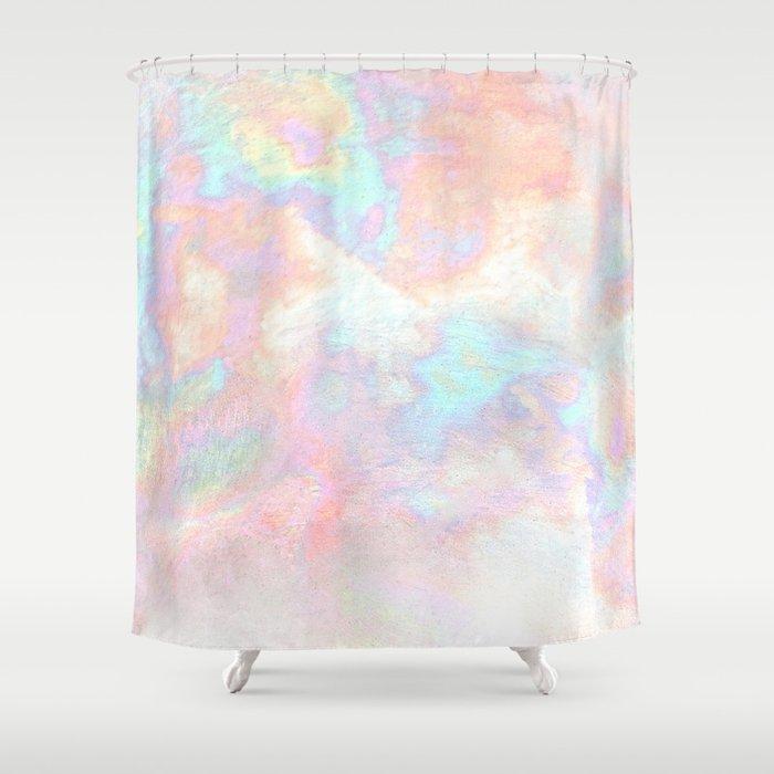 Metallic Iridescent Shower Curtain by berber | Society6