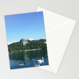 Swans in Bled Stationery Cards