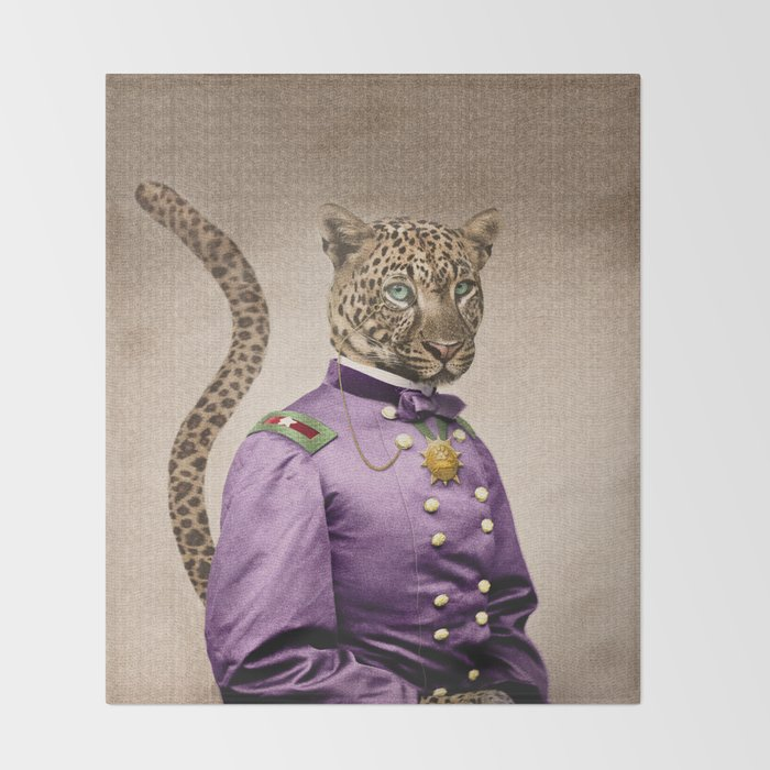 Grand Viceroy Leopold Leopard Throw Blanket