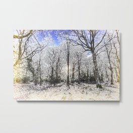The English Snow Forest Art Metal Print
