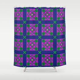 Disco Preppy Tiles Shower Curtain