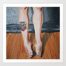 Legs. Art Print