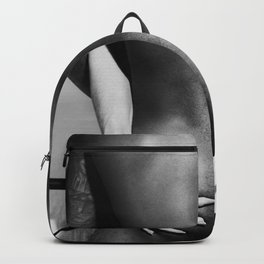 5095 The Squeeze   White Hug Black Embrace   Nude Backpack