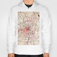 nashville Hoodies featuring Nashville by MapMapMaps.Watercolors