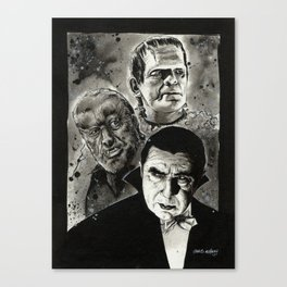 The Un-Holy Three Canvas Print