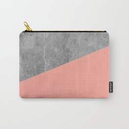 Coral Pink Concrete Carry-All Pouch