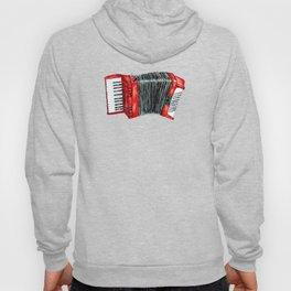 Retro red accordion Hoody