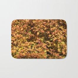 Japanese Maple Fall Leaves Bath Mat