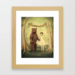 In the Spring, She Married a Bear Framed Art Print