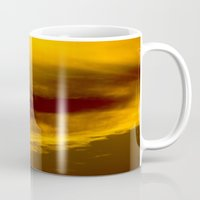 minnesota Mugs featuring Evening Sky in Minnesota by Casey Sperling