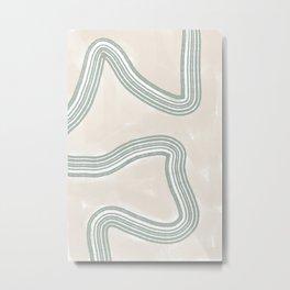 Abstracto Twist Metal Print
