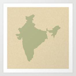 Coriander Blue Spice Moods India Art Print