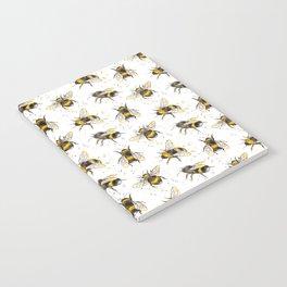 Fluffy Bumblebees (Pattern) Notebook