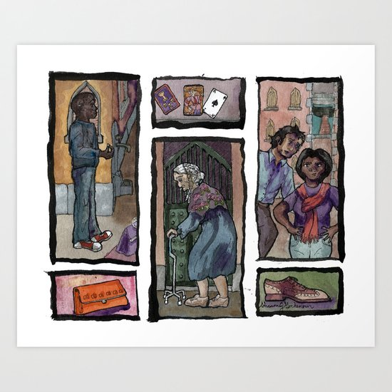 Losing My Shoes in Venice Art Print