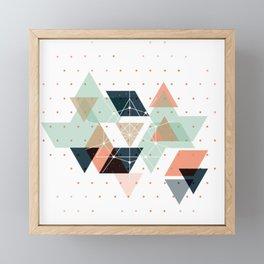 Midcentury geometric abstract nr 011 Framed Mini Art Print