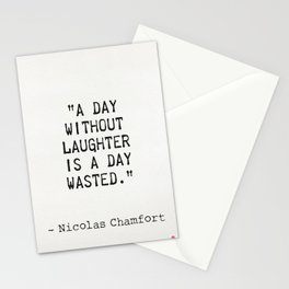 Nicolas Chamfort quote about laughter Stationery Cards