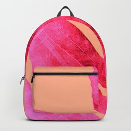 Peach Pink Ferns, Living Coral Backpack