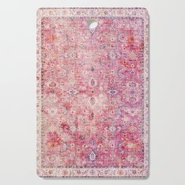 N45 - Pink Vintage Traditional Moroccan Boho & Farmhouse Style Artwork. Cutting Board