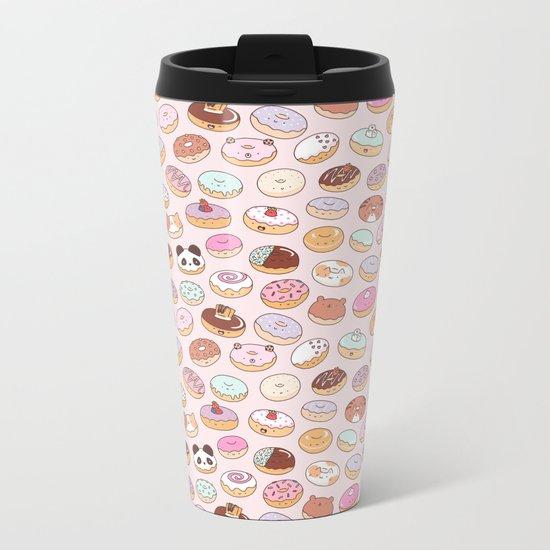 Mmm... Donuts! Metal Travel Mug
