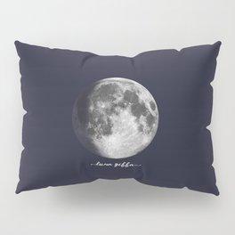 Waxing Gibbous Moon on Navy Latin Pillow Sham