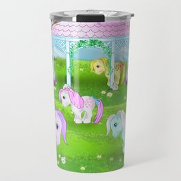 g1 my little pony stylized Collector ponies Travel Mug