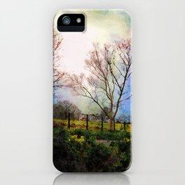 Illuminated Farmhouse and Trees Grasmere, Lake District, England iPhone Case