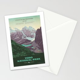 Yoho National Park Poster Stationery Cards