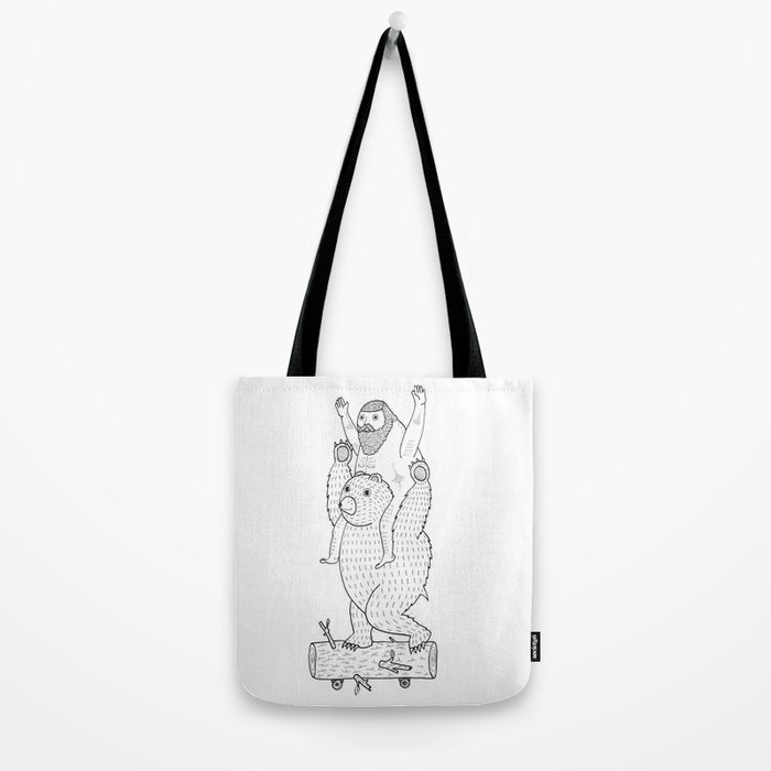 On a cause which contributed to the expulsion of the Lithuanian bear Tote Bag