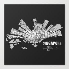Singapore Map Canvas Print