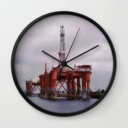 Oil Platforms Wall Clock