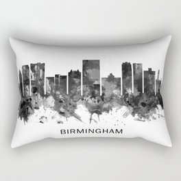 Birmingham Alabama Skyline BW Rectangular Pillow
