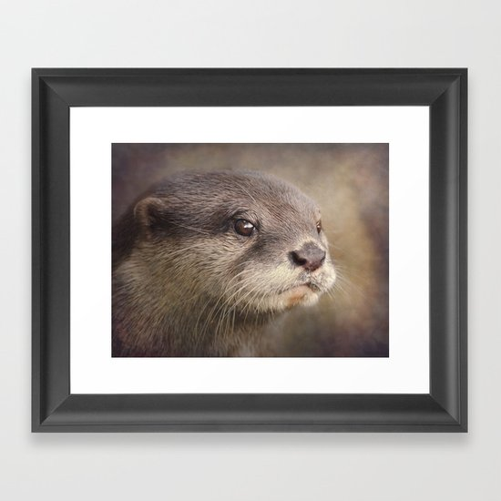 Otterly gorgeous!! Framed Art Print