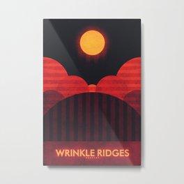 Mercury - Wrinkle Ridges Metal Print