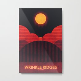 Mercury - Wrinkle Ridges Metal Print
