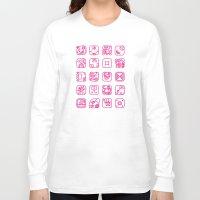 writing Long Sleeve T-shirts featuring Maya Writing System by Stop::mashina ~Runes
