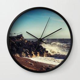 Battered Rocks Wall Clock