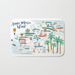 Anna Maria Island Map Bath Mat