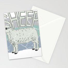 Sheep wool gift mouflon lamb buck mutton Stationery Cards