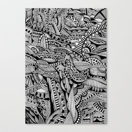 Black and White Doodle Art #1 Canvas Print