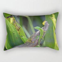 The Green Anole Rectangular Pillow