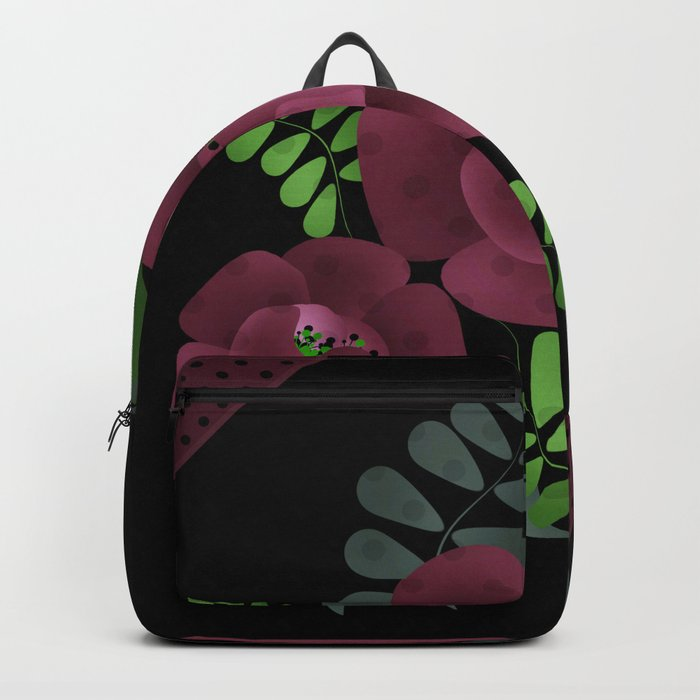 Burgundy roses. Backpack