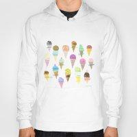ice cream Hoodies featuring Ice cream  by maria carluccio
