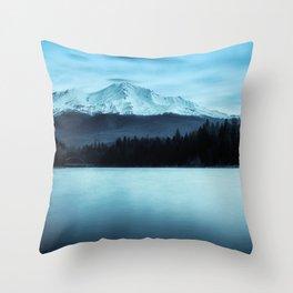 Mount Shasta Morning Throw Pillow