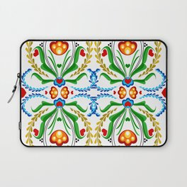 Scandinavian Folk Art ~ Tulip Mosaic Laptop Sleeve