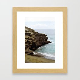 Green Sand Beach Framed Art Print