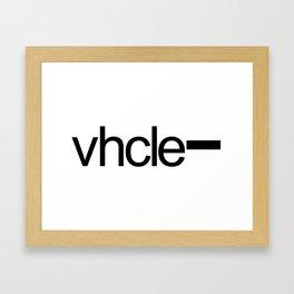 Vhcle Magazine Logo Framed Art Print
